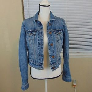 American Eagle Distressed Jean Jacket Sz. Medium